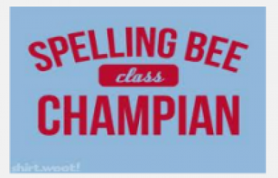 spelling bee champion logo