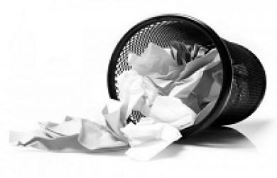 Cover Letter in Trash Bin