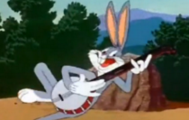 Bugs Bunny Playing Guitar and Singing